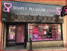 Simply Pleasure sex shop in Exeter